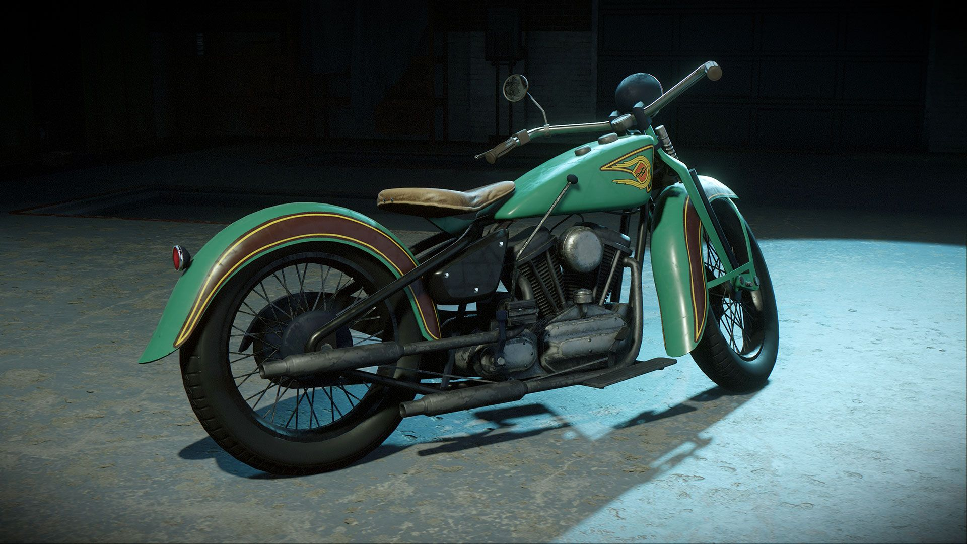 A new motorcycle from Mafia: Definitive Edition.