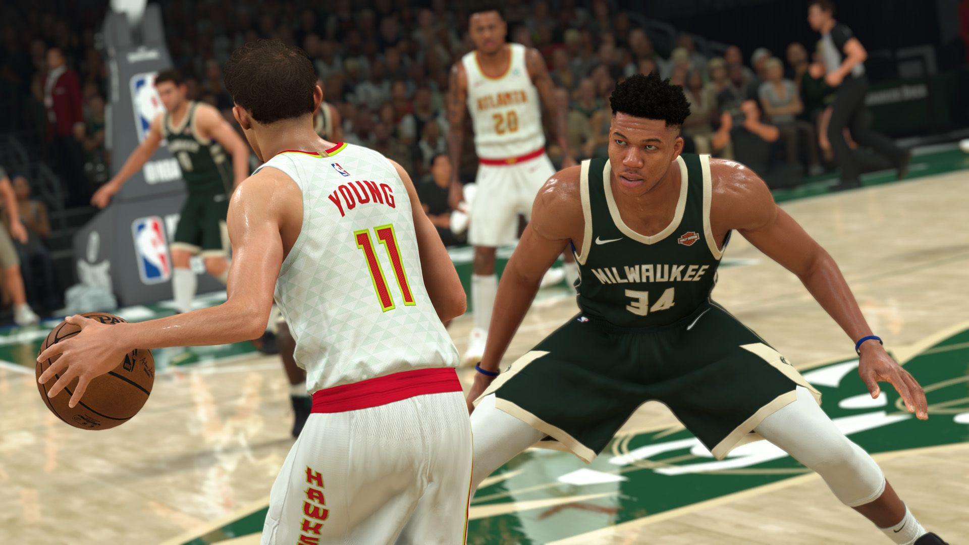 Basketball Video Game Action NBA 2K21