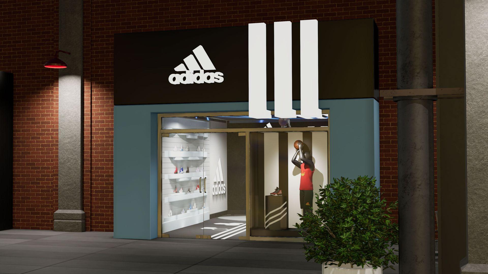 NBA 2K The City Adidas Store