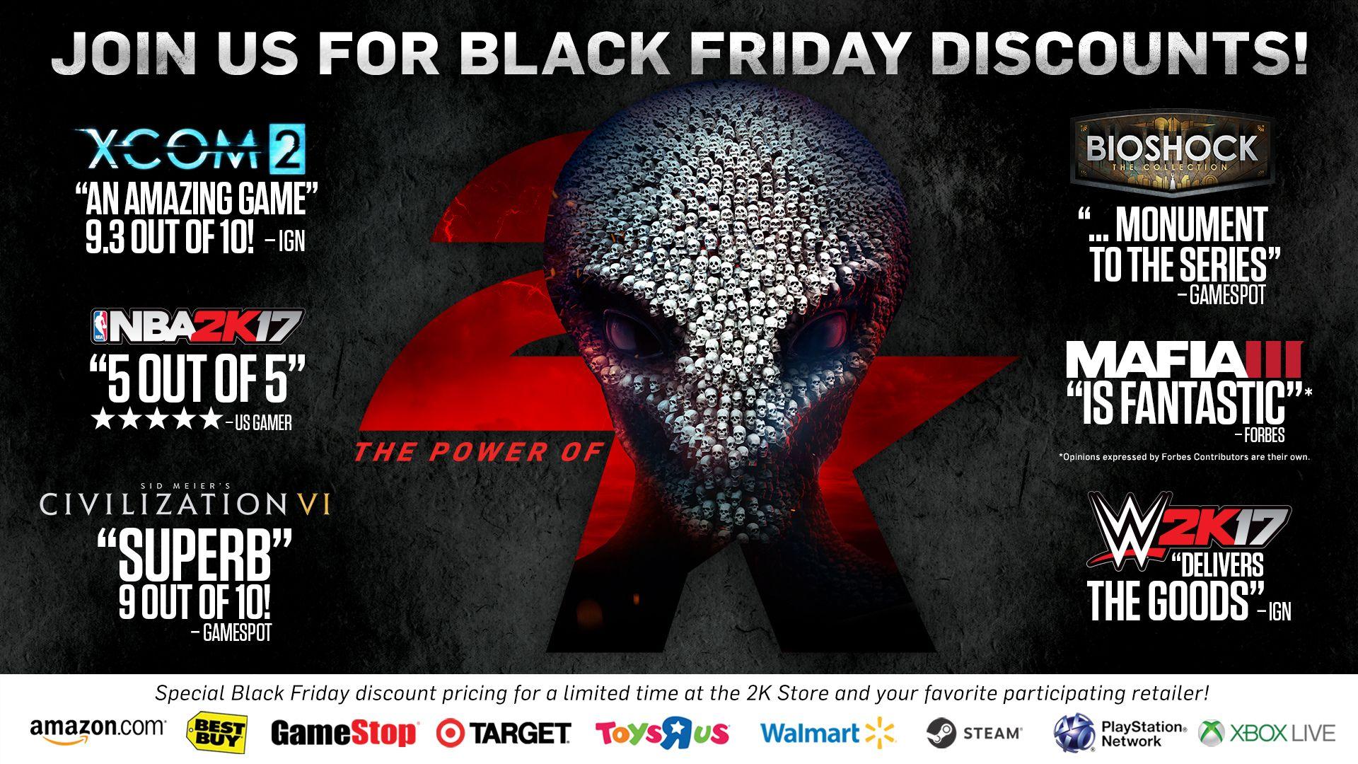 Black Friday Weekend Deals From 2K! - 2K