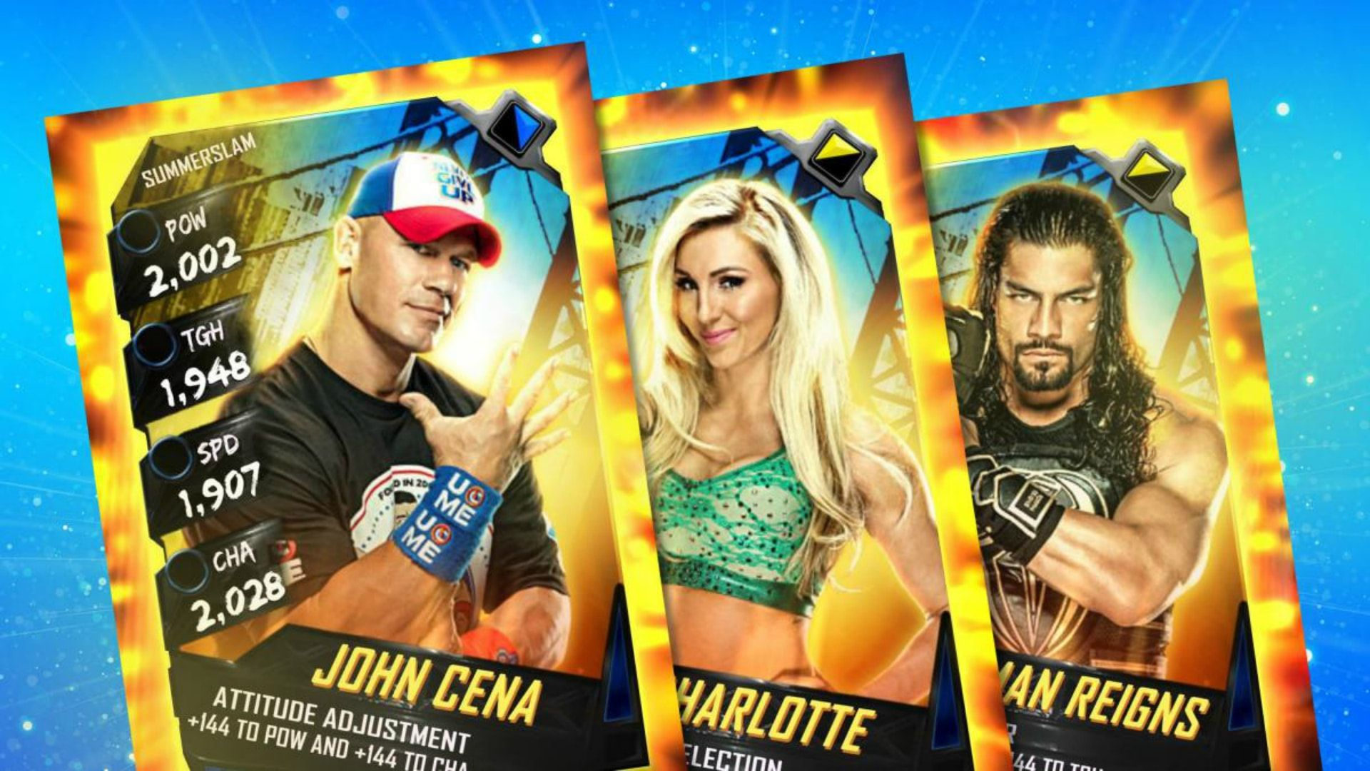 WWE SuperCard SummerSlam Tie