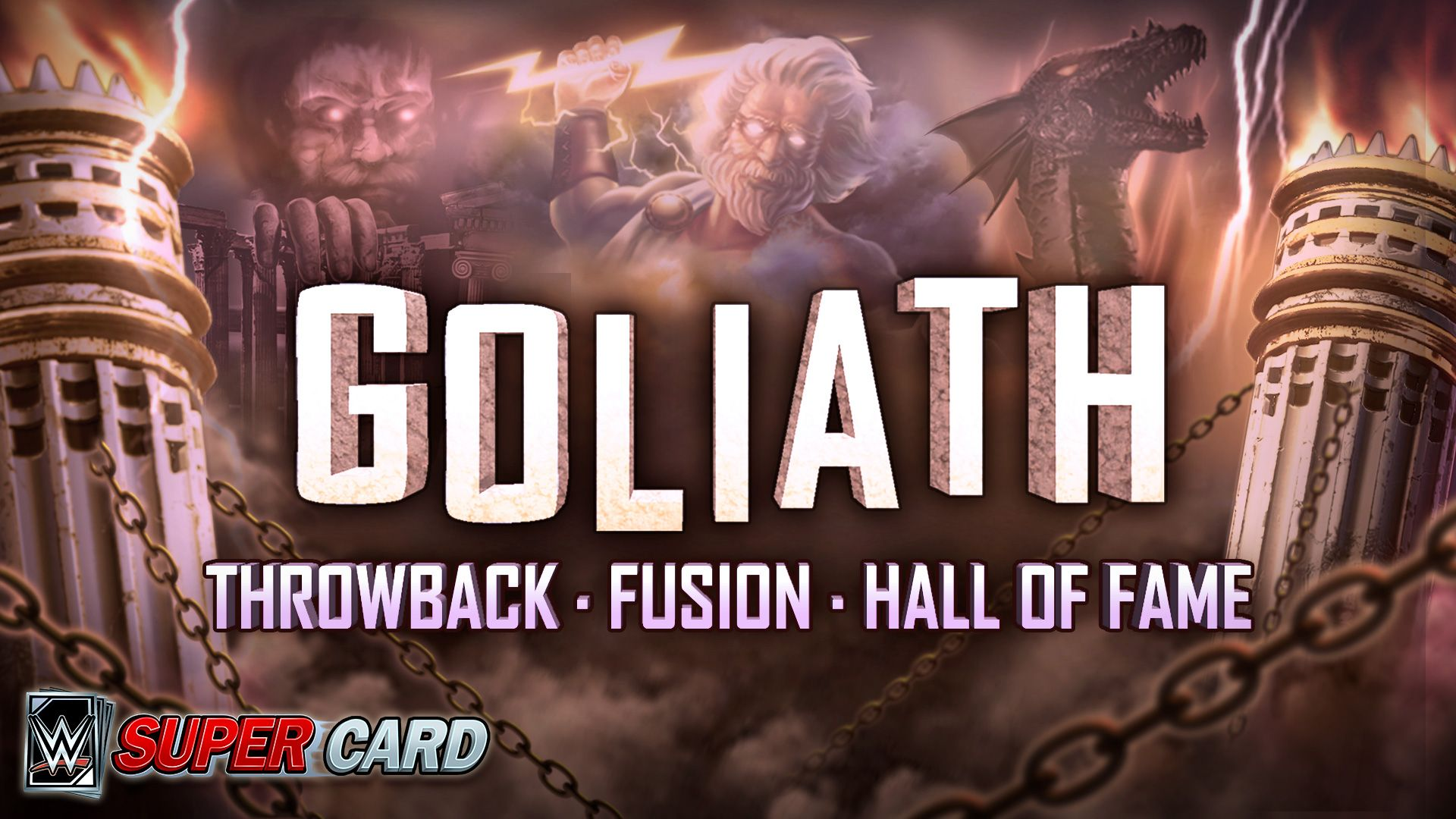 Wwe Supercard News Goliath Cartes Nostalgie Fusion Et Hall Of